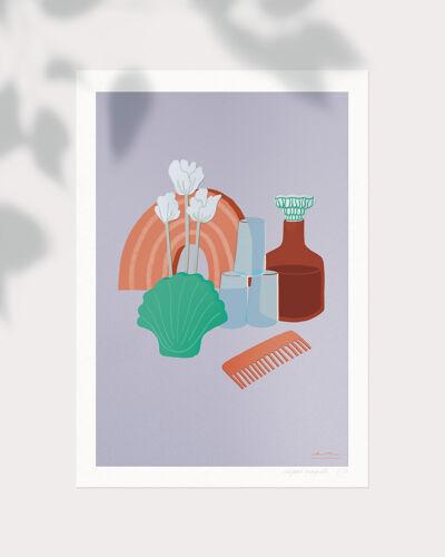 "Illustration ""Trouvailles"" Lilac"
