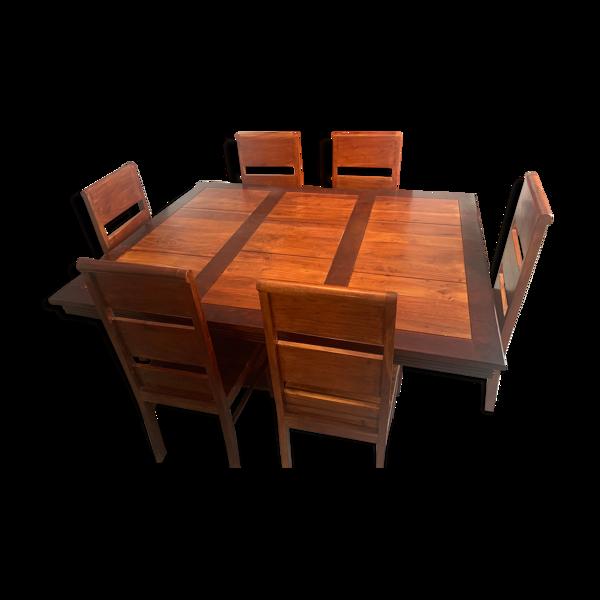 Selency Ensemble table et 6 chaises