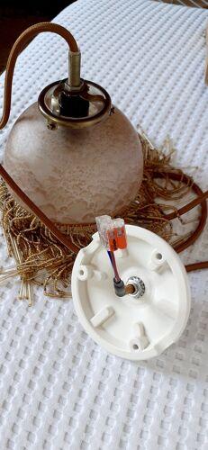 Suspension vintage en pâte de verre