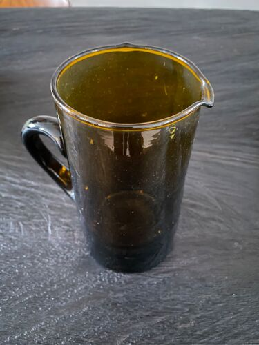 Carafe verre brun recyclé