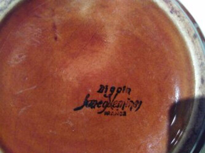 Cafetière céramique Digoin Sarreguemines signature avant 1919