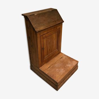 Prie-dieu en bois oratoire