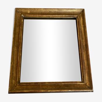 Miroir 18e en bois doré glace mercure