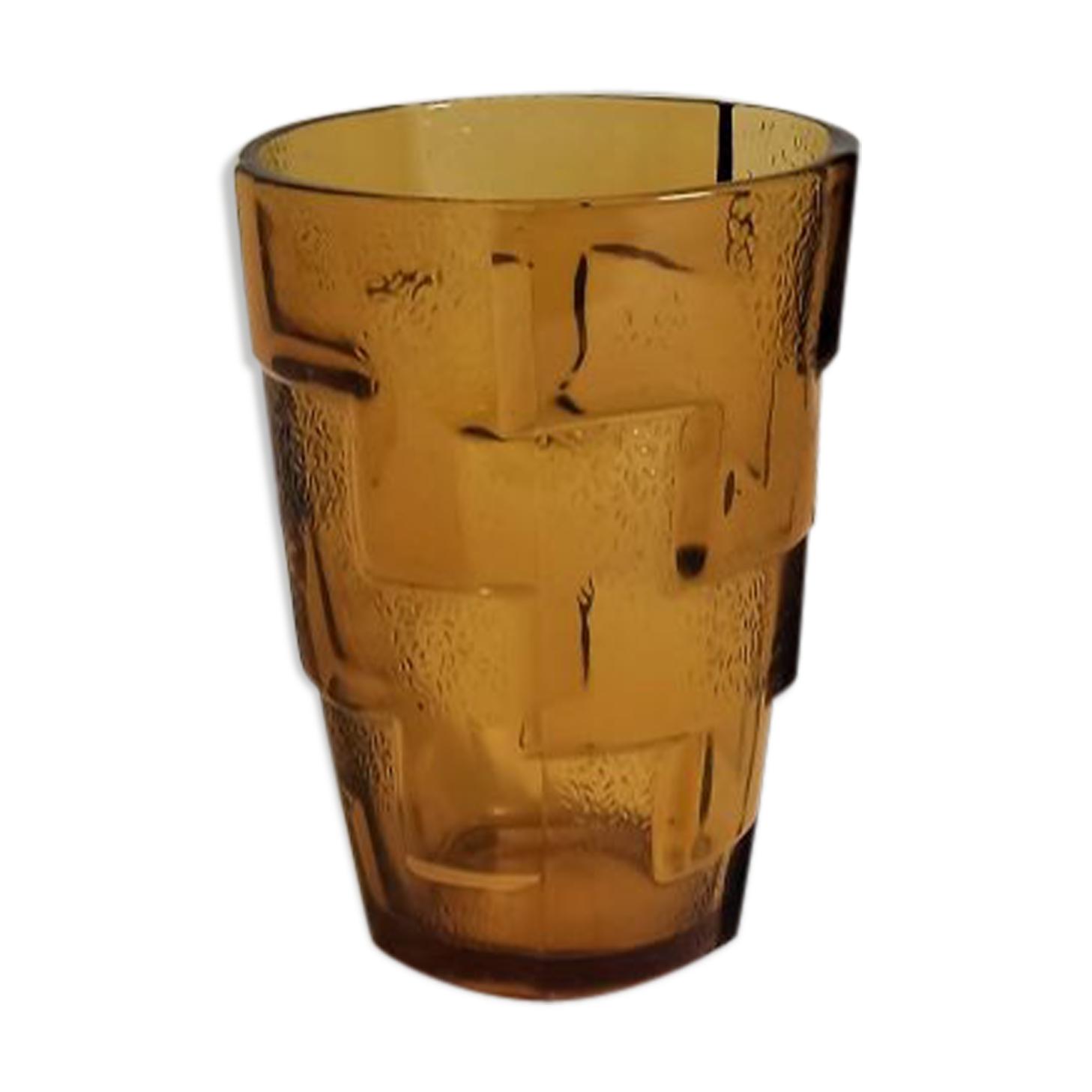 Vase art déco ambré