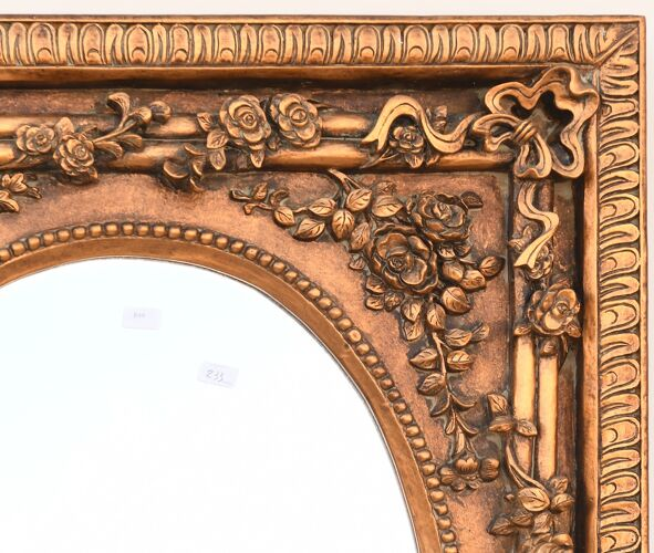 Miroir rectangulaire en résine doré 101x138cm