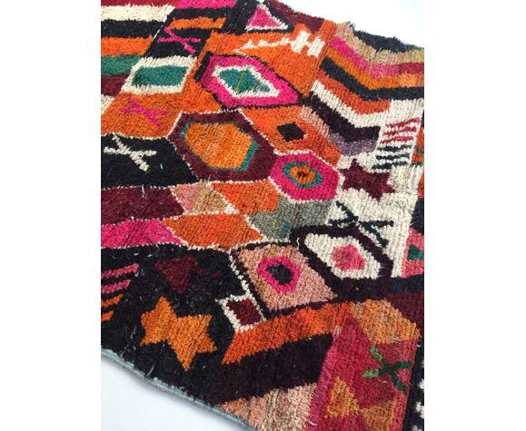 Tapis berbère marocain Boujaad à motifs graphiques colorés 240x160cm