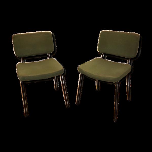 Selency Paire de chaises vintage André Simard édition Airborne 1960