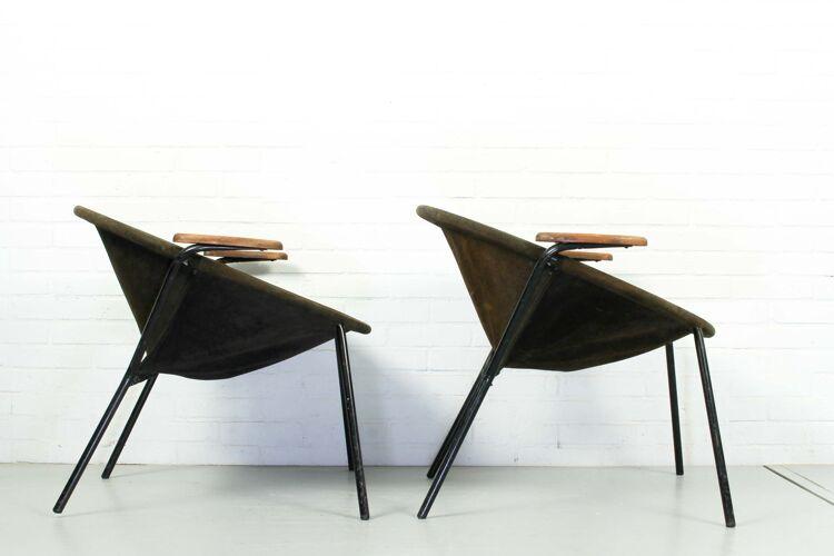 """Ensemble de 2 fauteuils """"Balloon"""" par Hans Olsen pour Lea Design, années 1960"""