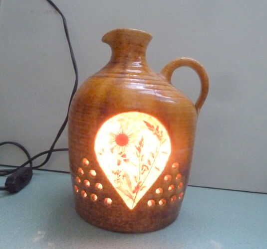 Lampe céramique Accolay résine et inclusions