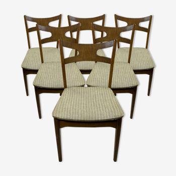 Lot de 6 chaises à repas scandinave vintage en chêne par Kurt Østervig, années 60