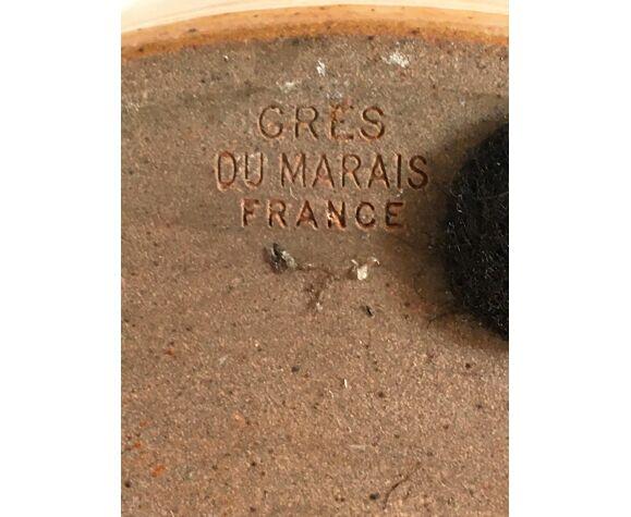 Lampe Grès du Marais vintage années 70 estampillée