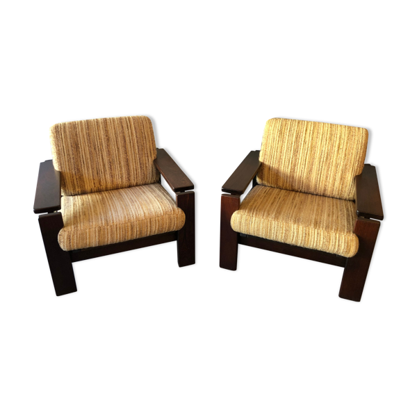 Duo de fauteuils vintage