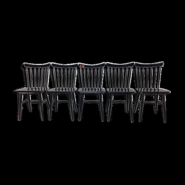Selency Suite de 5 chaises vintage hollandais
