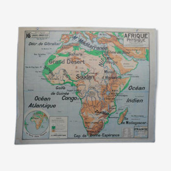 Affiche scolaire Afrique physique Bruley n°16