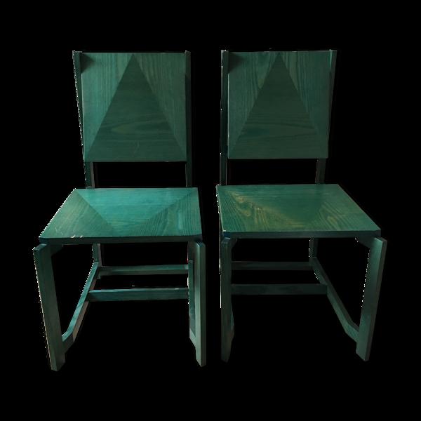 Paire de chaises Vintage designer Philippe Parent