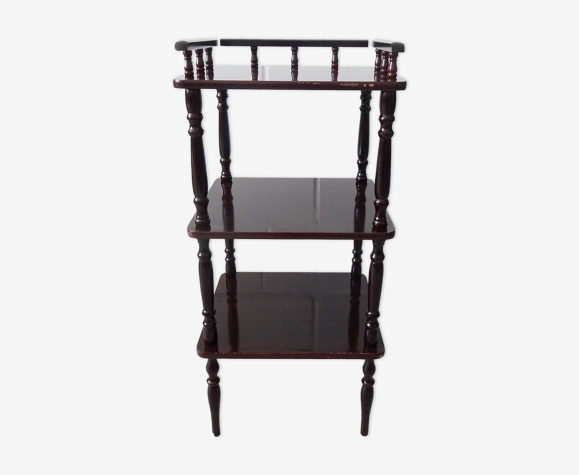 Console avec trois étagères en bois