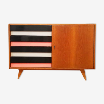 Striped buffet by Jiri Jiroutek for Interier Praha, 1960s