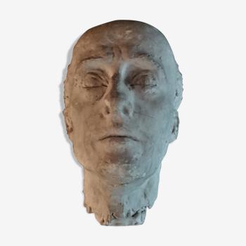 Tête d'homme en plâtre modelé XXème