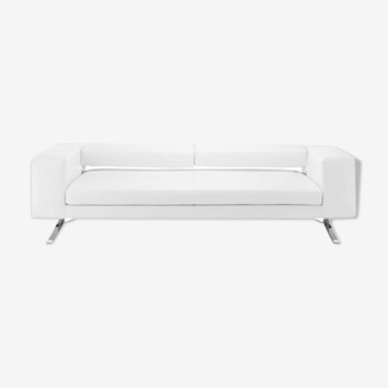 Canapé cuir blanc design Jett Habitat