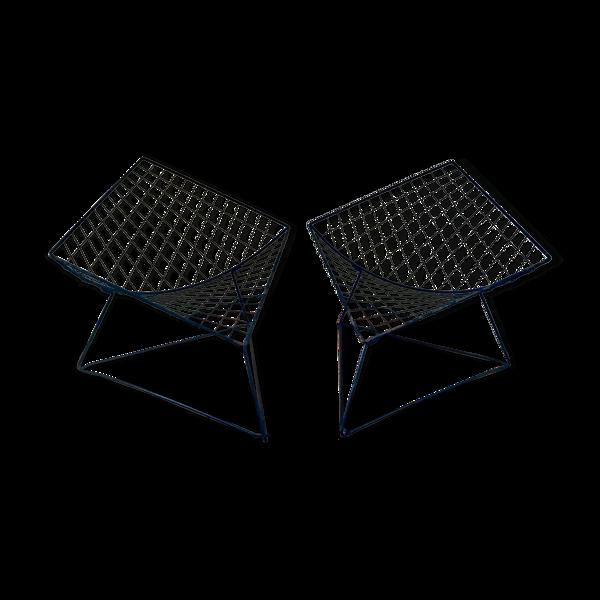 Paire de fauteuils OTI noirs par Niels Gammelgaard, 1980