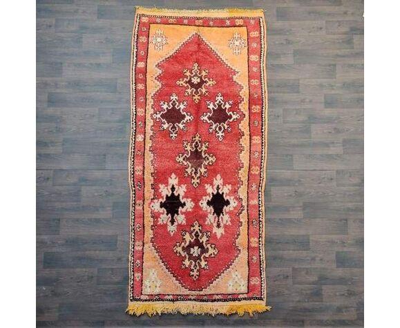 Tapis marocain boujad orange 150 x 315 cm