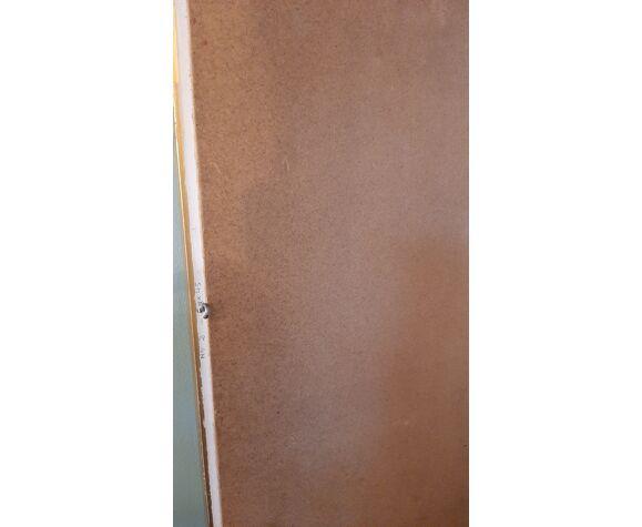 Miroir à parecloses bois doré 46x57cm