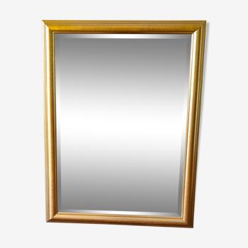 Miroir en bois doré 108 cm