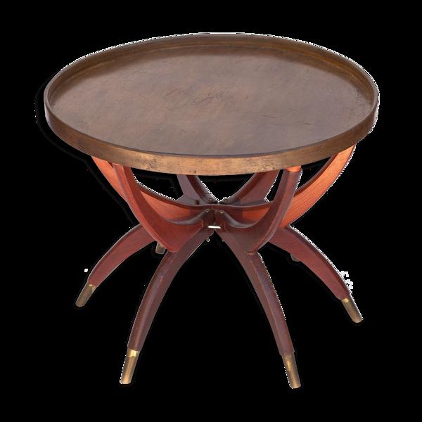 Table vintage basse en bois