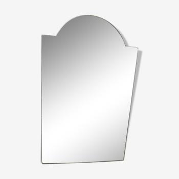 Miroir biseauté, ciselé, Art Deco années 40/50