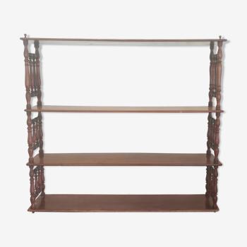Anciennne étagère acajou en bois tourné/19 Ème siècle