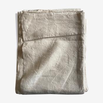 Drap de réserve en toile de lin sans monogramme L240cm