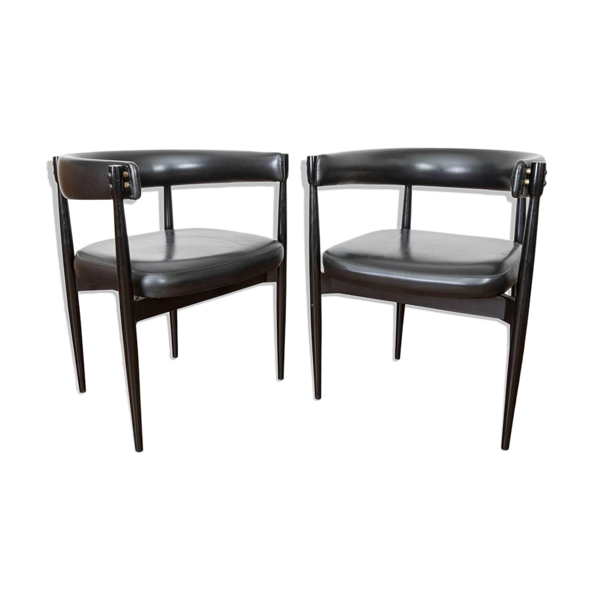 Selency Paire de chaises italiennes Fratelli Reguitti