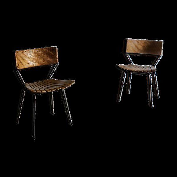 Paire de chaises Arthur Umanoff des années 1950
