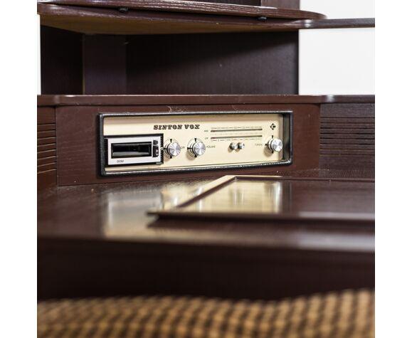Sofa 5 seats radio fabric 70s vintage