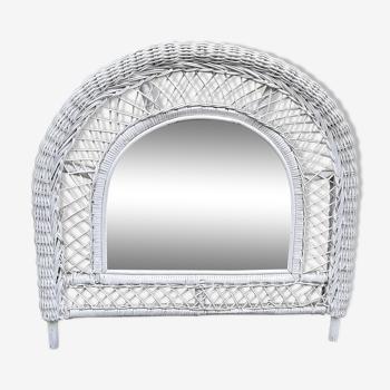Miroir en rotin tressé 75x72cm