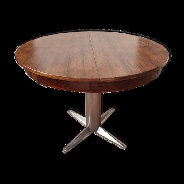 Table de repas vintage pied central métal