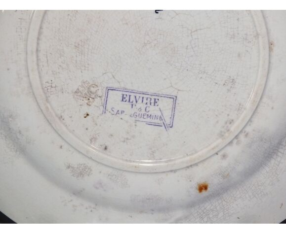 Duo d'assiettes plates mauves Sarreguemines U&C Elvire