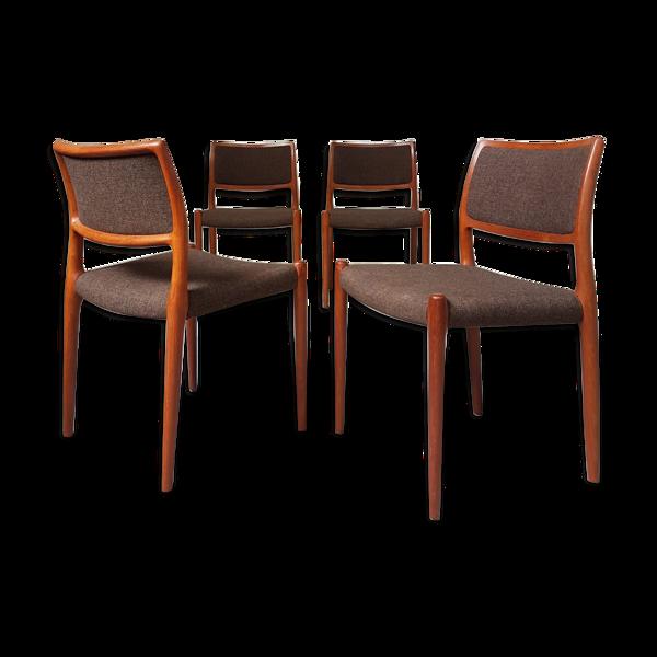 Selency Lot de 4 chaises par Niels Otto Moller pour J.L.Mollers