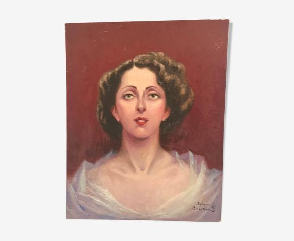 Peinture sur bois 1950