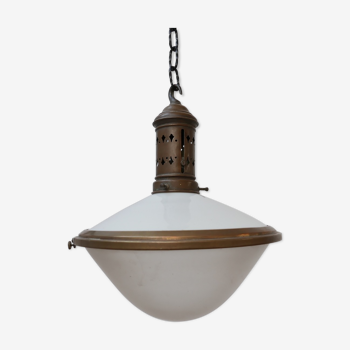 French antique two tone pendant light