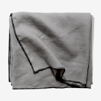 Mouse-grey linen tablecloth