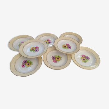 8 assiettes creuses Coopelia / L'Amandinoise