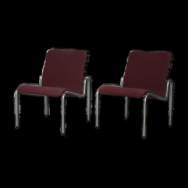 Paire de fauteuils Stabin, modele 703