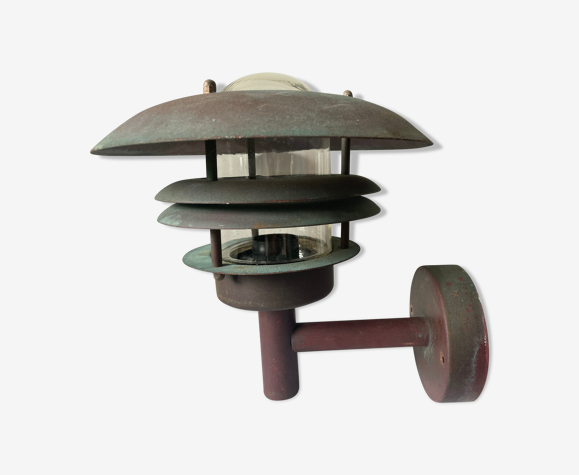 Classic danish outdoor copper lamp