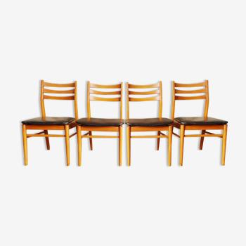 Set de 4 chaises scandinave vintage