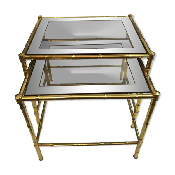 Selency Tables gigognes en laiton