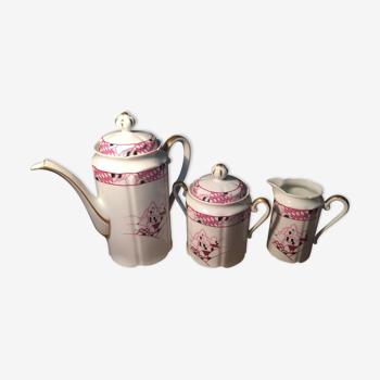 Unique Limoges France porcelain tea set signed Lucien
