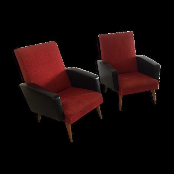 Selency Paire de fauteuils 1950