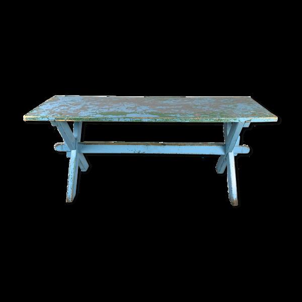 Table en bois massif vintage, années 1910