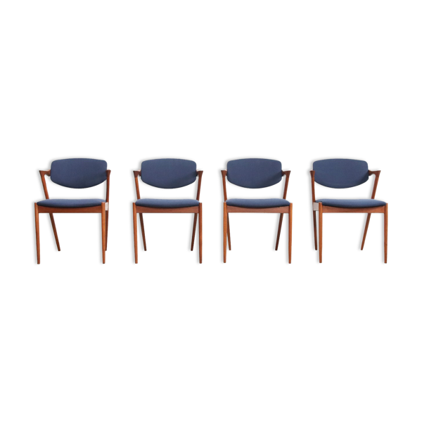Selency Ensemble de 4 chaises teak modèle 42 par Kai Kristiansen